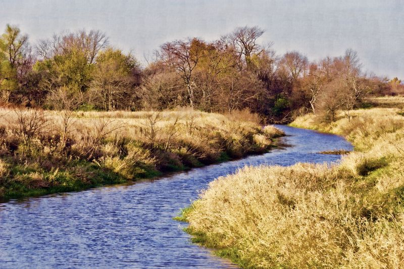 Prairie River in Autumn