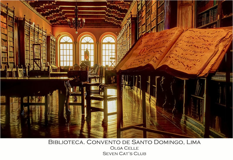 Library at Convento de Santo Domingo, Lima