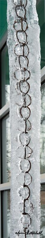 Ice Encrusted Rain Chain
