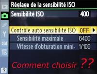 Quel est le meilleur réglage ISO ?