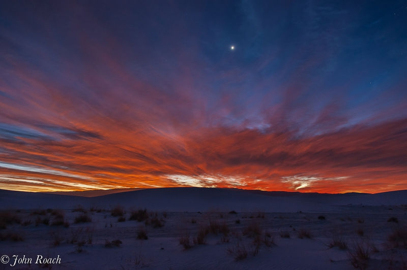 First Sunrise at White Sands