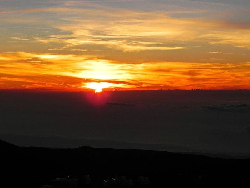 Sunset over Mauna Kea Summit
