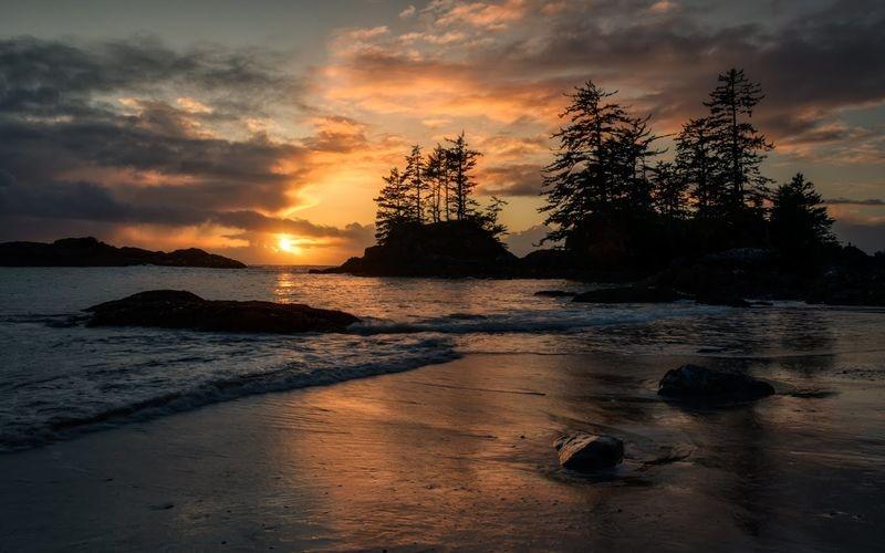 Tofino sunset, Vancouver Island BC Canada