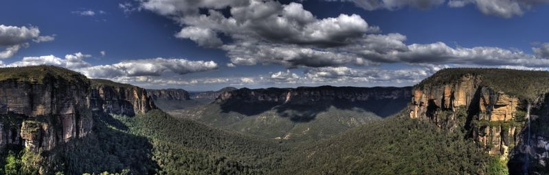 Grose Valley from Govetts Leap lookout Blue Mountains Australia