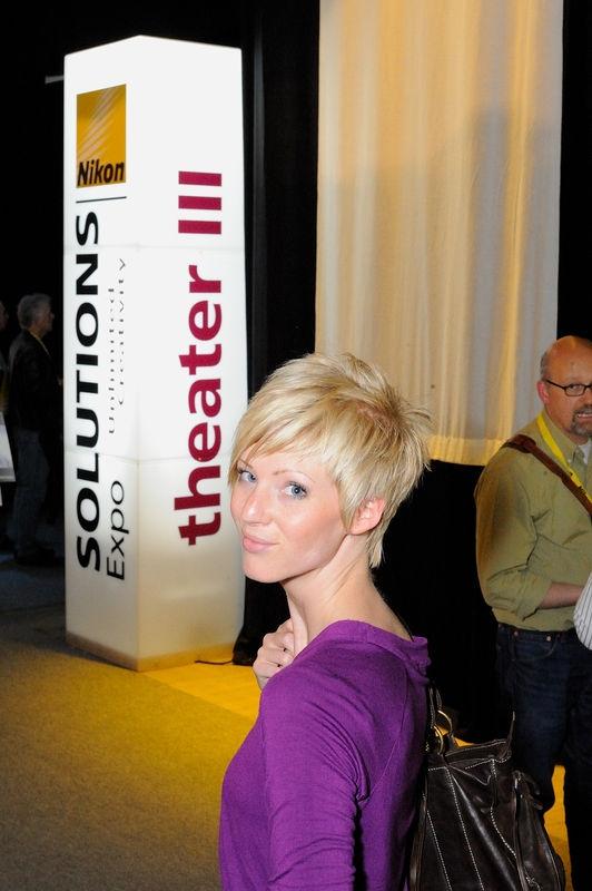 Nice Girl at Nikon Solutions Expo at Cologne, Germany
